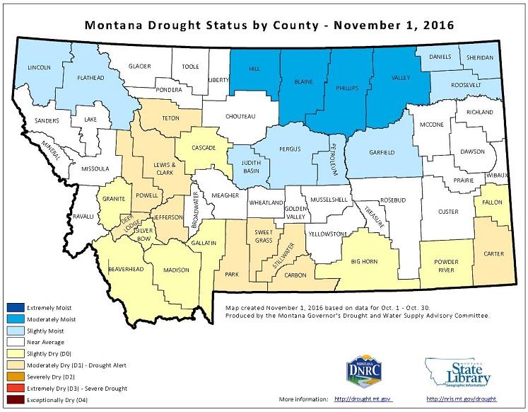 Montana Drought Status