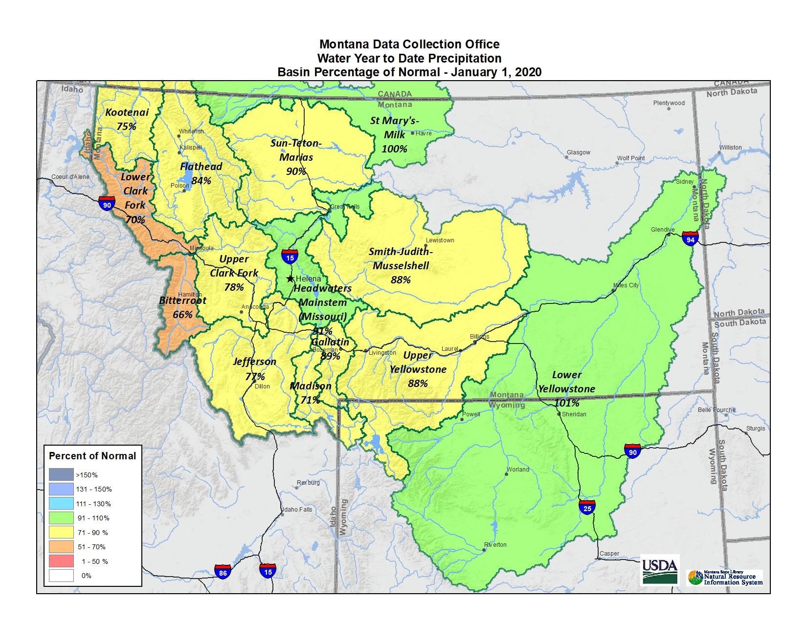 January 2020 Basin Map