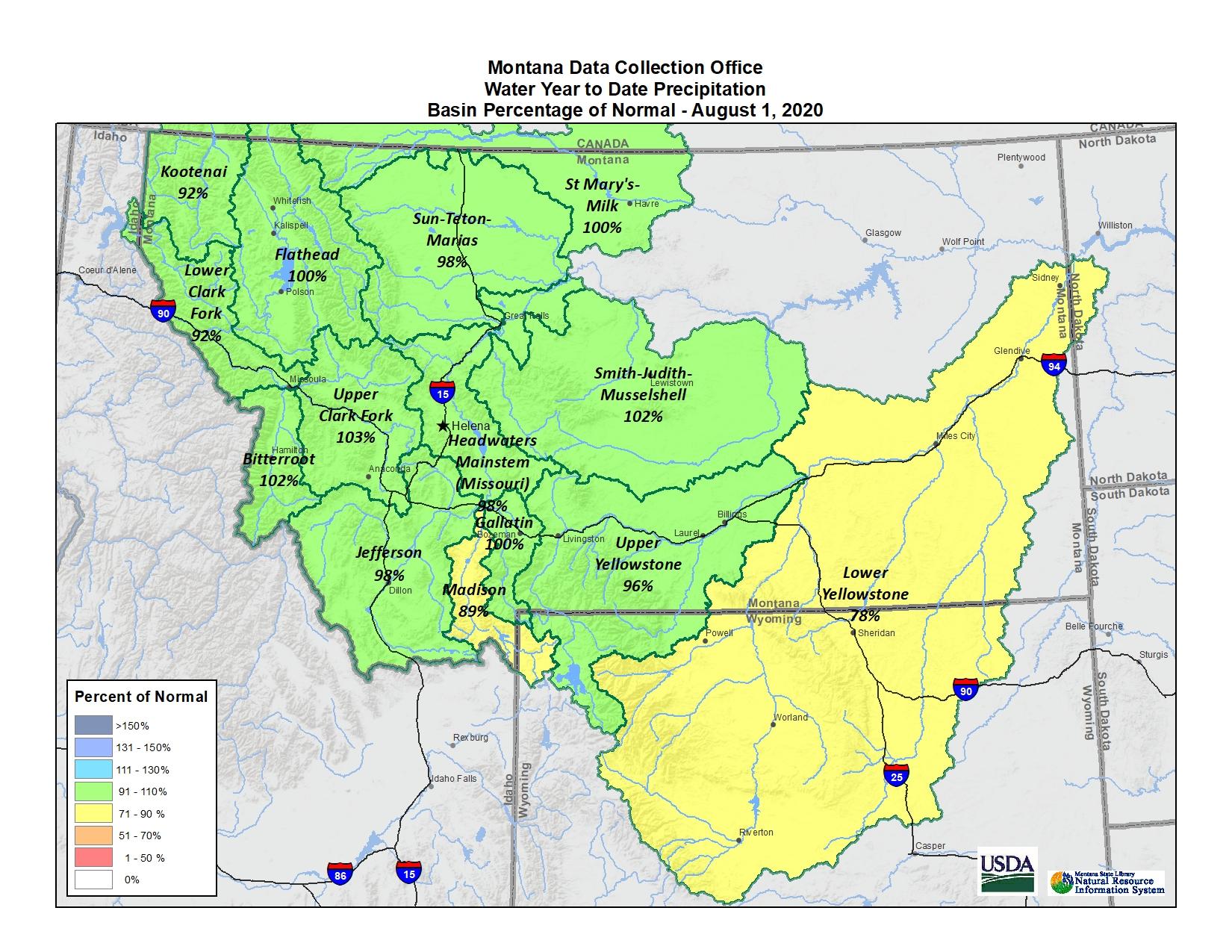August 2020 Basin Map