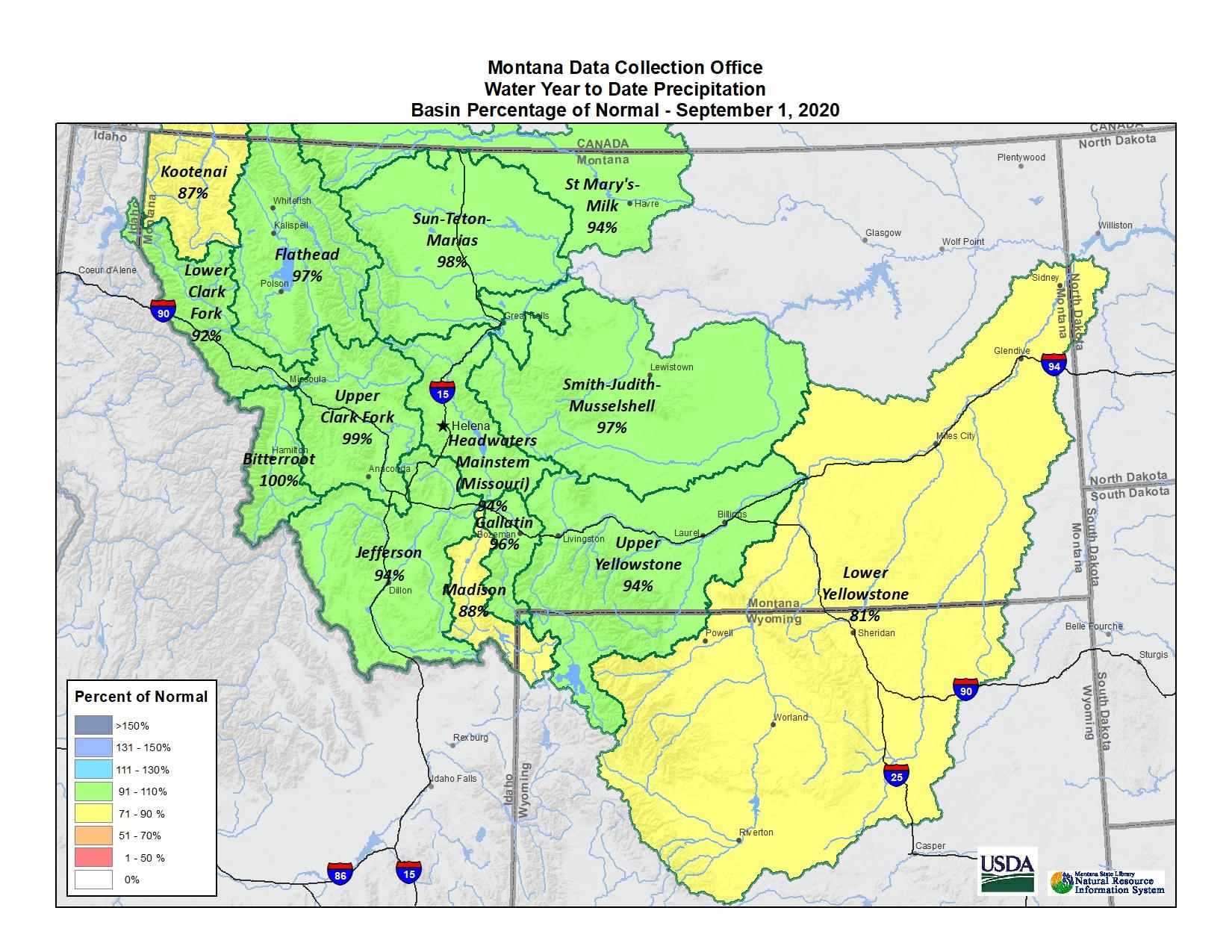 September 2020 Basin Map
